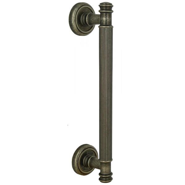 Дверная ручка скоба Extreza Benito S (Бенито) R01 античное серебро F45