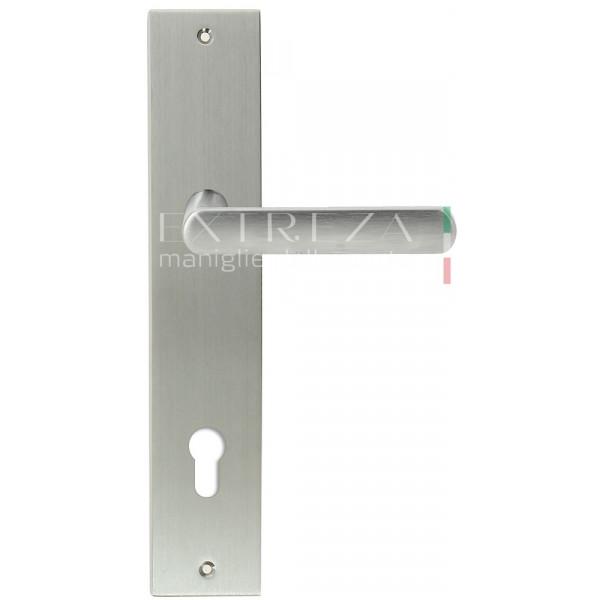 Дверная ручка Extreza Hi-tech «AQUA» (Аква) 113 на планке PL11 CYL матовый хром F05
